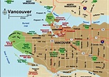 Map of Vancouver Canada - Free Printable Maps