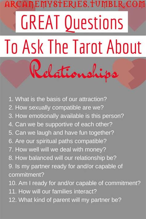 great questions    tarot  relationships