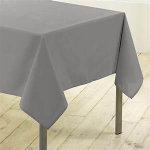 Nappe De Table Rectangulaire : nappe rectangulaire l250 cm gamme essentiel gris nappe de table eminza ~ Teatrodelosmanantiales.com Idées de Décoration