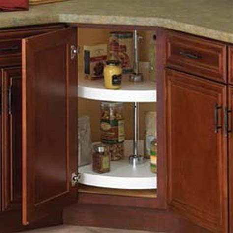 kitchen cabinet lazy susan knape and vogt circle 2 shelf set 28 quot diameter white 5560