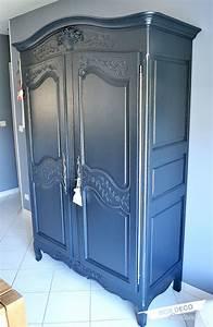 renover une armoire normande blog box deco couleurs With peindre une armoire en bois