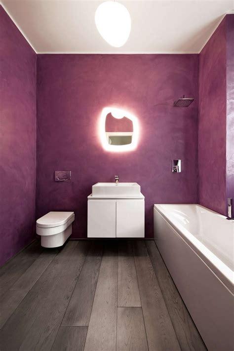 inspired  purple bathrooms