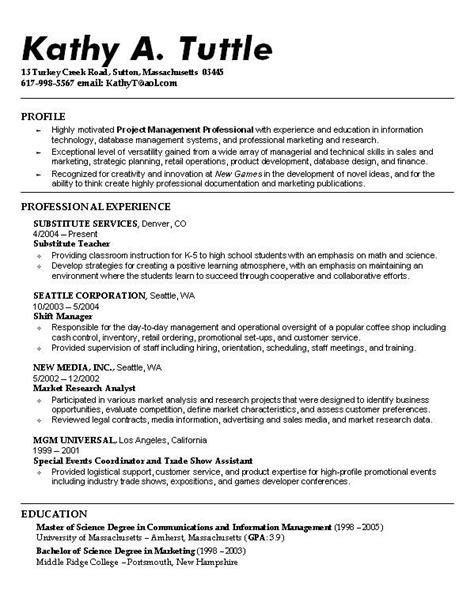 Student Resume Examples | brittney taylor