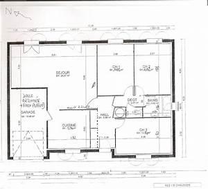 Plan de maison de 70m2 plain pied for Plan maison plain pied 70m2
