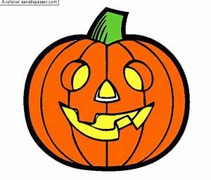 Citrouille D Halloween Dessin : coloriage citrouille d 39 halloween sans d passer ~ Nature-et-papiers.com Idées de Décoration