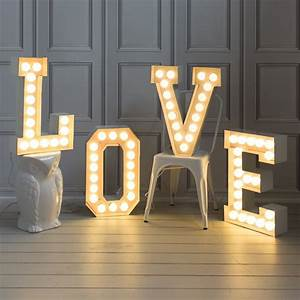 light up letters from graham green barnyard wedding With letter light decor