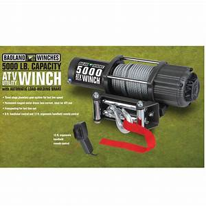 5000 Lbs  Atv  Utility Electric Winch With Automatic Load