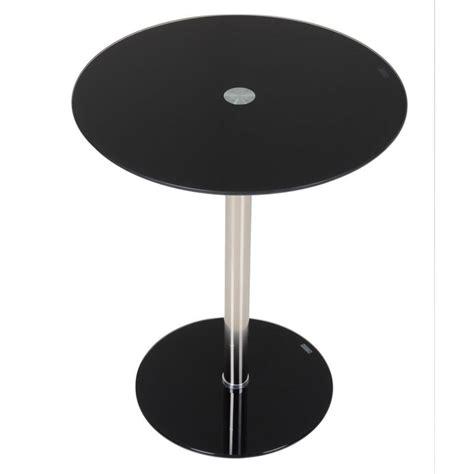 black glass end table modern black round glass nova side table sidebar new