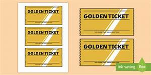 Golden ticket editable writing template golden ticket for Golden ticket template editable