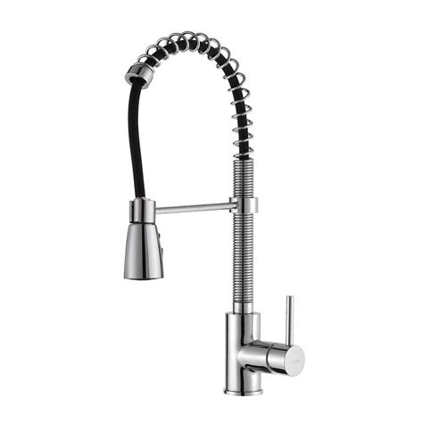 kraus faucets home depot kraus single lever pull out kitchen faucet chrome the