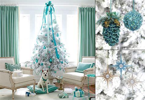 turquoise  white christmas tree decoration  bla bla