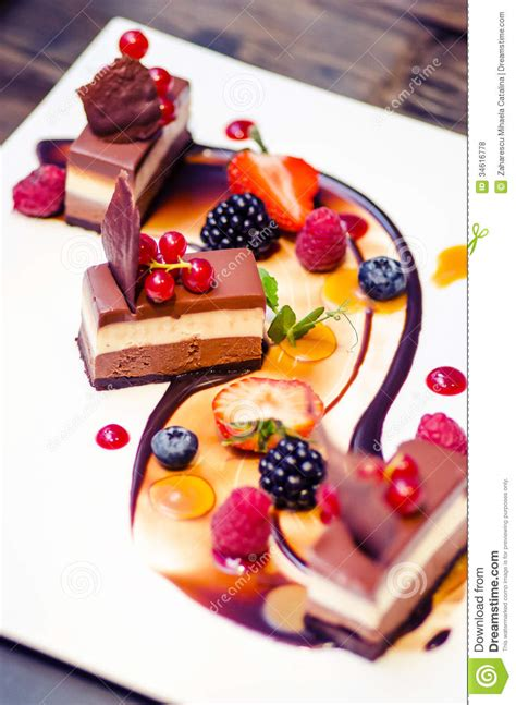 dessert cuisine chocolate dessert stock photo image of dining