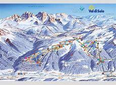 Val di Sole Folgarida ski map