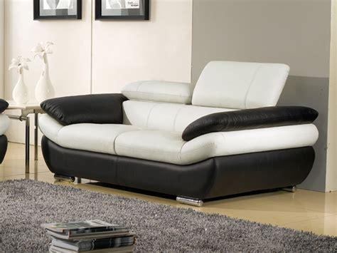 meuble bout de canapé canapé 2 places en cuir bi ton rosy au prix imbattable
