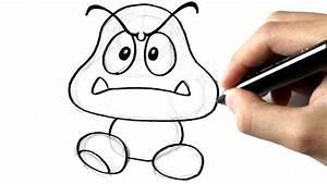 Modèle De Dessin Facile : comment dessiner un goomba de mario youtube ~ Melissatoandfro.com Idées de Décoration