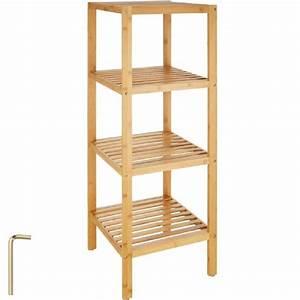 Etagere En Bois Salle De Bain : tag re salle de bains bois de bambou tag re murale colonne meuble de rangement 4 tages 33 ~ Preciouscoupons.com Idées de Décoration
