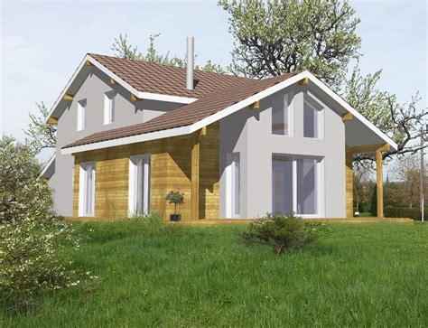 cot maison ossature bois maison bois ossature et poteaux poutre par vision bois du ct de chez