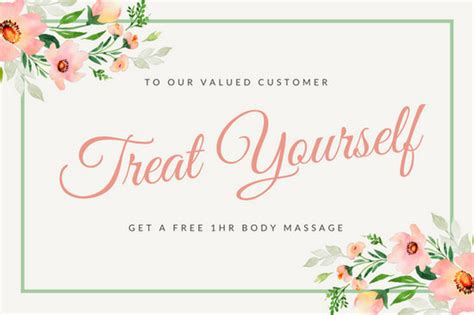 customize  massage gift certificate templates