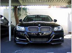 CF BMW Performance style splitters installed on 335i LCI