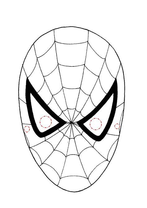 maschera uomo ragno da colorare  disegni da colorare
