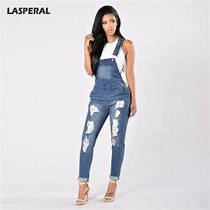 LASPERAL 2017 Denim Jumpsuits Women Fashion Ripped Hole ...