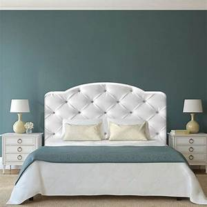 master bed with curved tufted upholstered headboard in With bed back cushion design