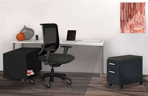 Stretto L Shaped Desk With Side Storage