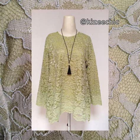 asimetris lace blouse atkizeechic model pakaian hijab