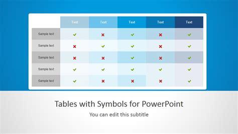 tables  symbols  powerpoint slidemodel