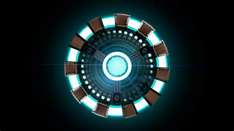 Iron Man Arc Reactor Minimalism HD Wallpapers / Desktop