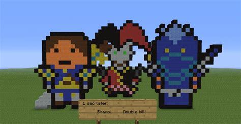 Lol Pixel Art Minecraft Project