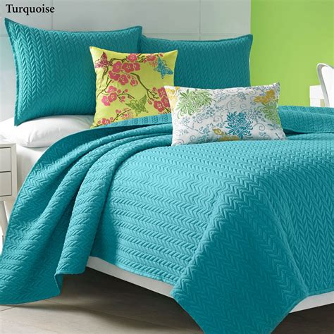 Quilted Coverlet by Camdyn Bright Solid Color Quilted Coverlet From J By J