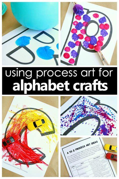 process art alphabet crafts  preschool process