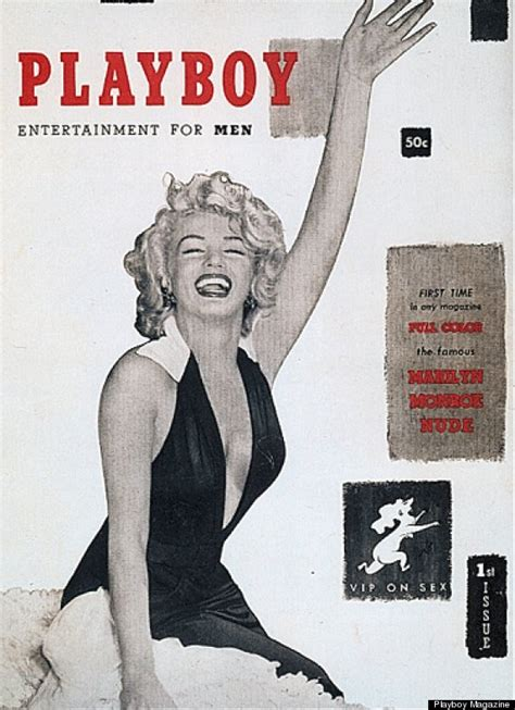 marilyn monroe first magazine cover what the first issue of playboy looked like huffpost