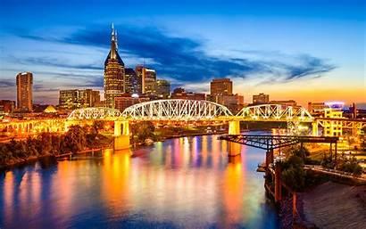 Nashville Tennessee Destination Downtown Skyline Alamy Night