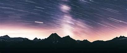 Mountains Night Dark Exposure Starry Sky 1080p