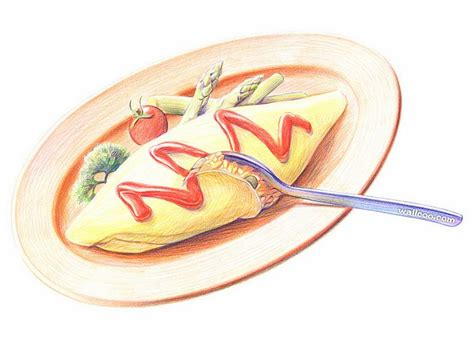 cuisine dwg colored pencil drawings of foods wallpaper 10 wallcoo