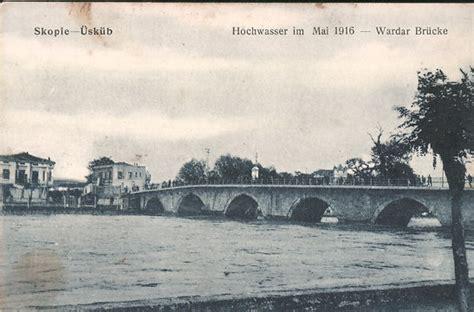 alte postkarte aus skopje hochwasser im mai 1916