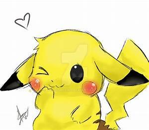 Cute Pikachu Pokemon Drawing