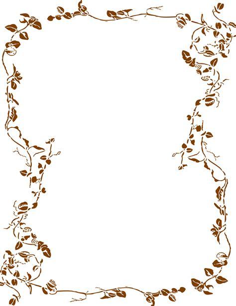 plant border designs flower border for ms word clipart best