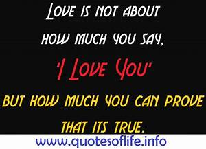 Love Quotes Prove. QuotesGram
