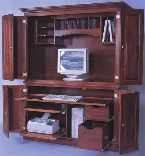 kitchen cabinets maple heirwood 2 computer center in solid hardwood ohio 3087