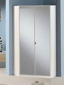 Armoire D Angle : armoire d angle avec miroir gamma blanc 139 ~ Teatrodelosmanantiales.com Idées de Décoration