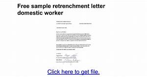 termination of employment letter domestic worker south With retrenchment letter template