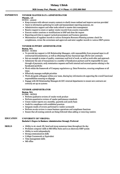 Contract Administrator Cv by 10 Contract Administrator Resume Sle Resume Sles