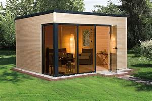 Gartenhaus Mit Glasfront : weka design gartenhaus cubilis natur 390x390cm bei ~ Sanjose-hotels-ca.com Haus und Dekorationen