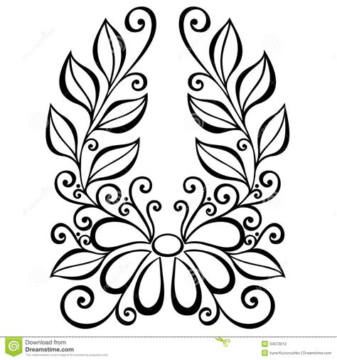 decorative flower and leaf designs decorative flower with leaves stock vector image 34573012