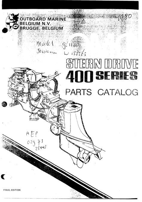 omc  series    sterndrive  engine workshop