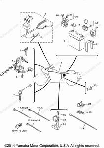 Yamaha Motorcycle 2014 Oem Parts Diagram For Electrical