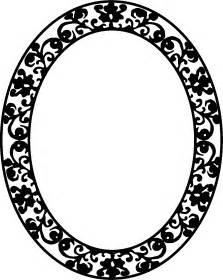 Floral Oval Frame Clip Art